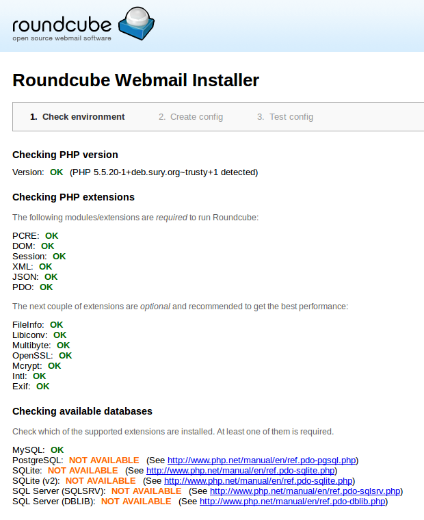 roundcube-webmail-installer