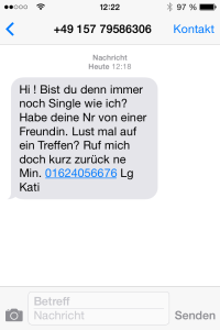 example of an actual case of sms spam