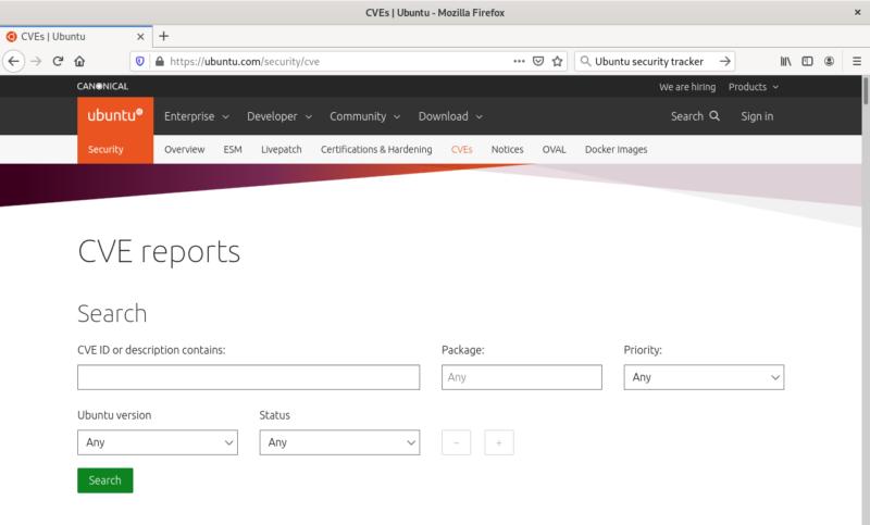 screenshot-ubuntu-cve-reports-search